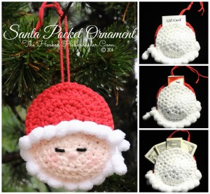 Santa Pocket Ornament Free Crochet Pattern