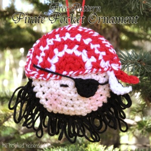 Pirate Pocket Ornament Free Crochet Pattern