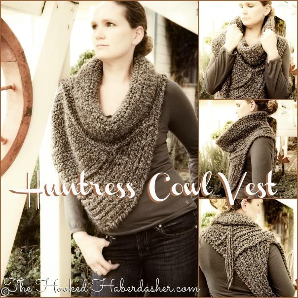 Huntress Cowl Cross-Body Vest Crochet Pattern