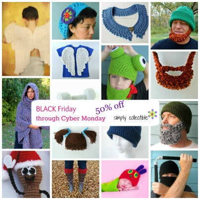 Black Friday Cyber Monday 50 off with SimplyCollectibleCrochet