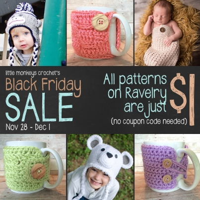 Black Friday Sale Littlemonkeyscrochet 1.00 patterns