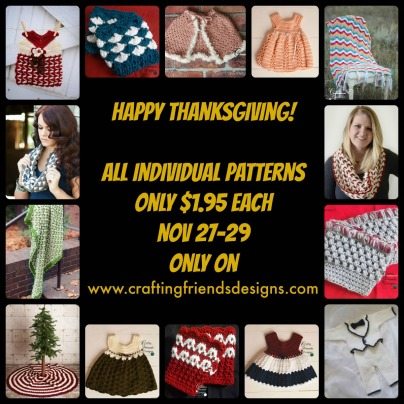 Thanksgiving sale at Craftingfriendsdesigns