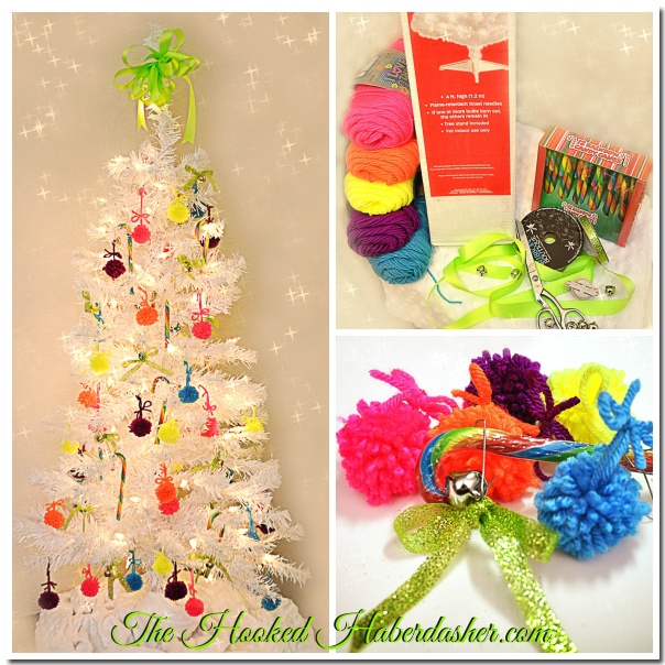 The Hooked Haberdasher's Rainbow Christmas Holiday Tree